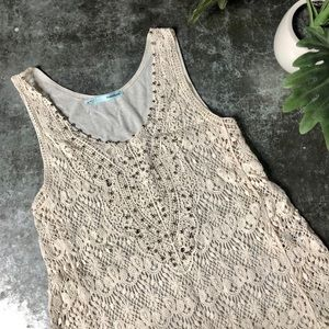 MAURICES Lace Crochet Embellished Tank Top